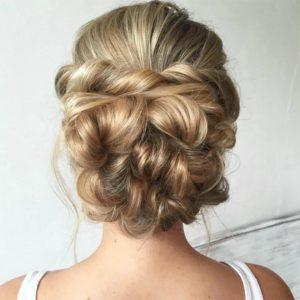cabello largo recogido para bodas