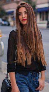 cabello largo y liso