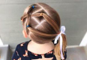 peinado de varias coletas para niñas