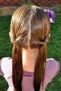 peinado con coletas bajas sencillas
