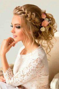 corona de trenzas para boda