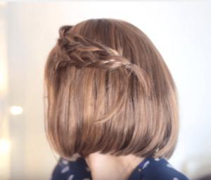 pelo corto con trenza y ganchito
