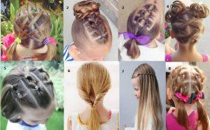 peinados con ligas o coletas faciles