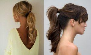 peinado de coleta con ondas moderno