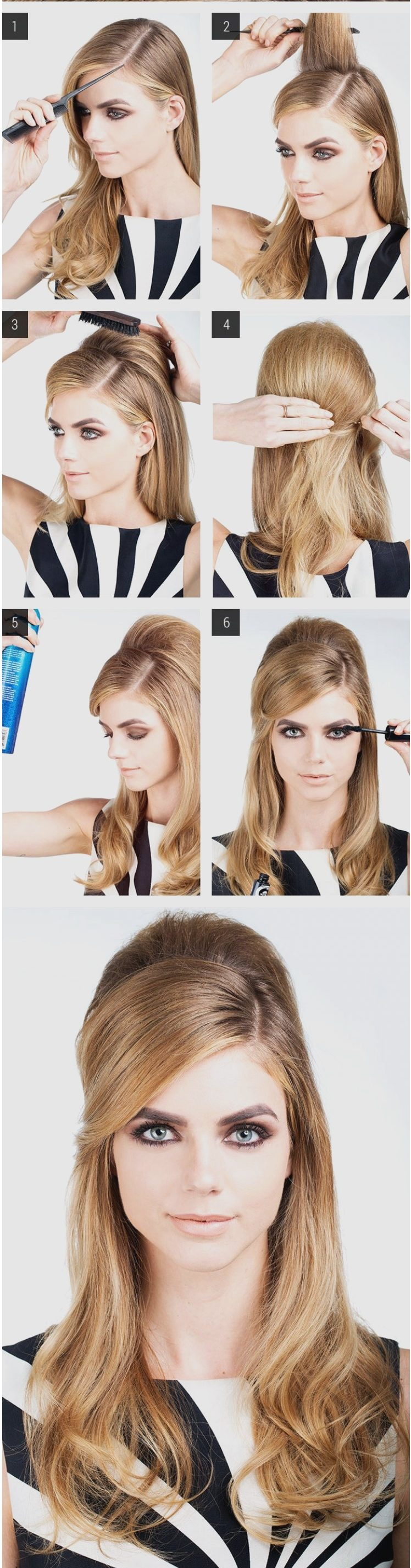 peinado con copete para mujer