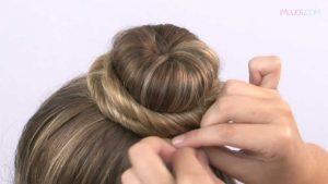 peinado con rodete para niñas