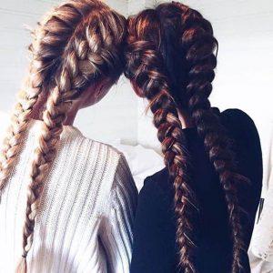 peinados con tenzas a cada lado