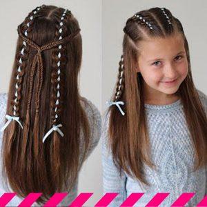 trenzas pegadas al cuero cabelludo para niñas