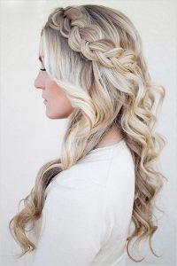 peinados para boda corona de trenza