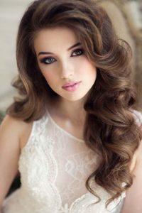 peinado con cabello suelto para bodas