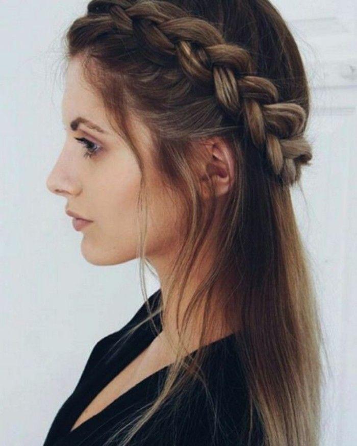peinado con diadema de tu propio cabello