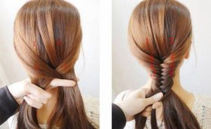 peinado cola de pez para niñas