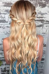 peinados de trenzas cabello suelto
