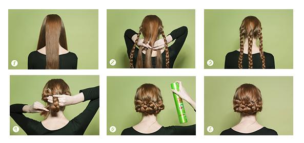 peinados de tres trenzas
