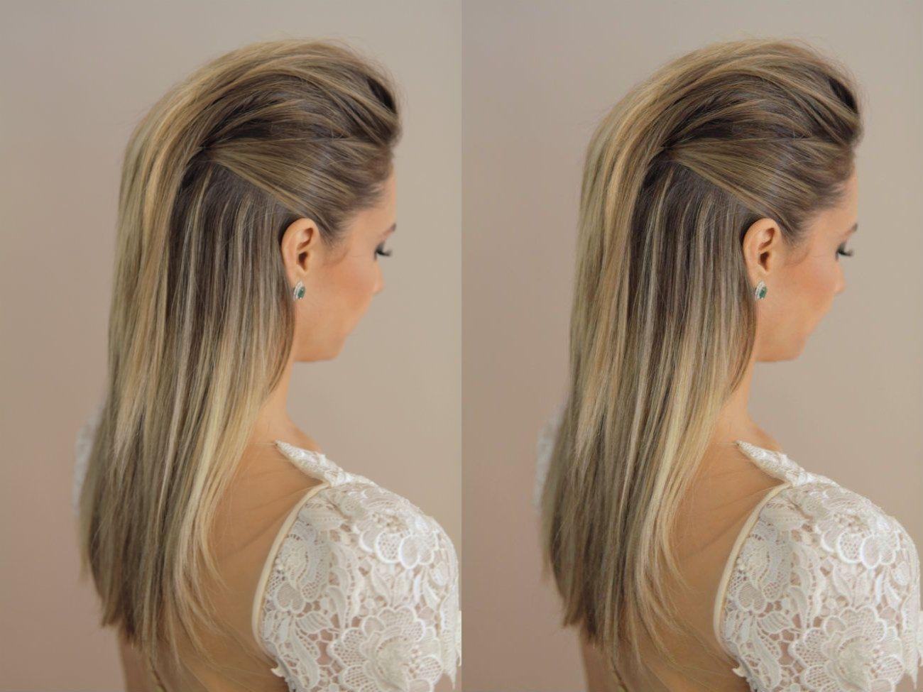 peinado elegante con tupe
