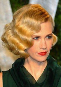 peinado al estilo de los años veinte para cabello corto