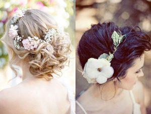 peinado facil con tocado para bodas