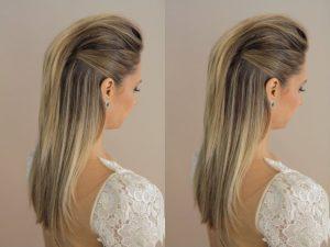 peinado elegante hacia atras