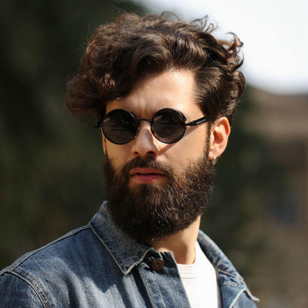 peinado hipster de cabello rizado