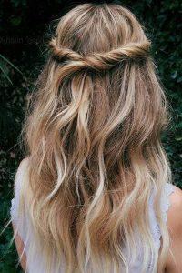 peinado moderno de cabello suelto