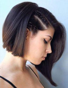 peinado para pelo corto con trenzas