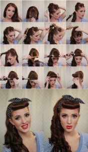 peinado pin up con coleta