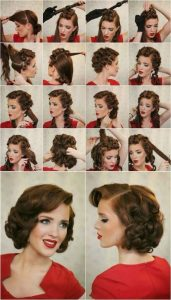 peinado pin up con rollos