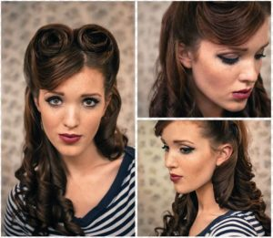 peinado pin up pelo suelto