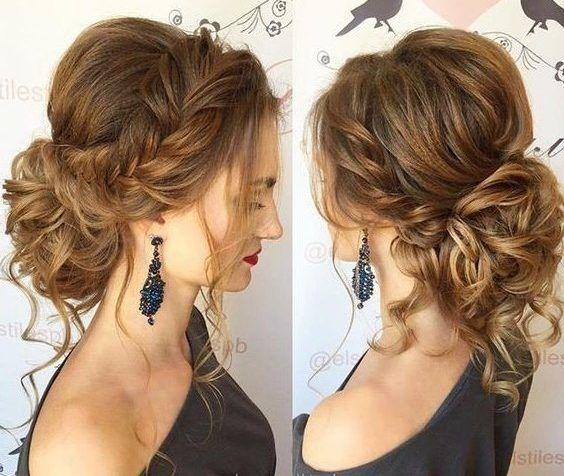 peinado recogido con diadema ternzada