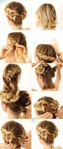 peinado recogido con trenzas sencillo