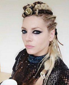 peinado recogido de vikinga