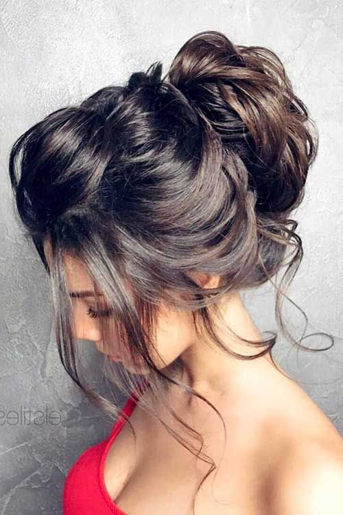 peinado alto elegante recogido
