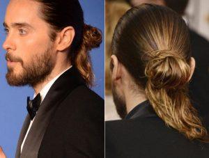 peinado recogido elegante para hombre