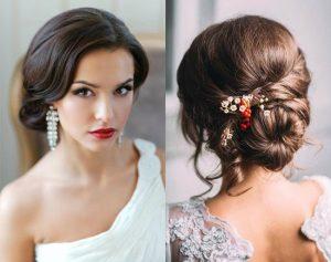 peinado recogido para novia de pelo corto
