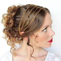 peinado romano con tocado