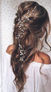 peinado semi recogido para novia boho