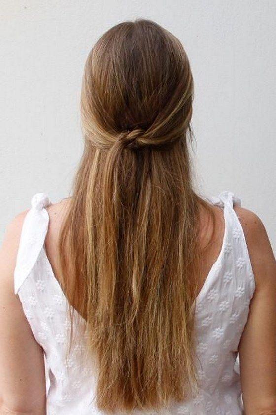 peinado semirecogido sencillo para cabello liso