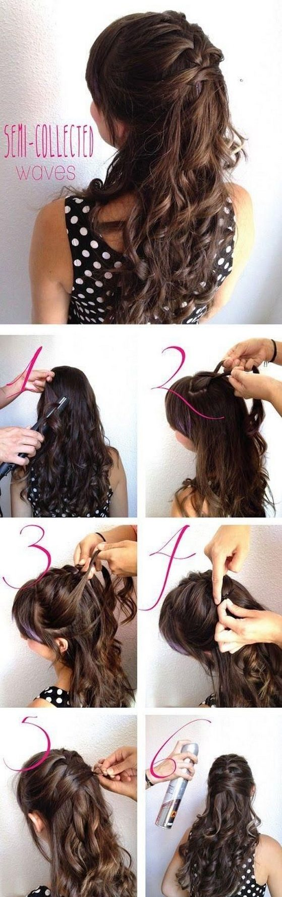 peinado semirecogido con trenza