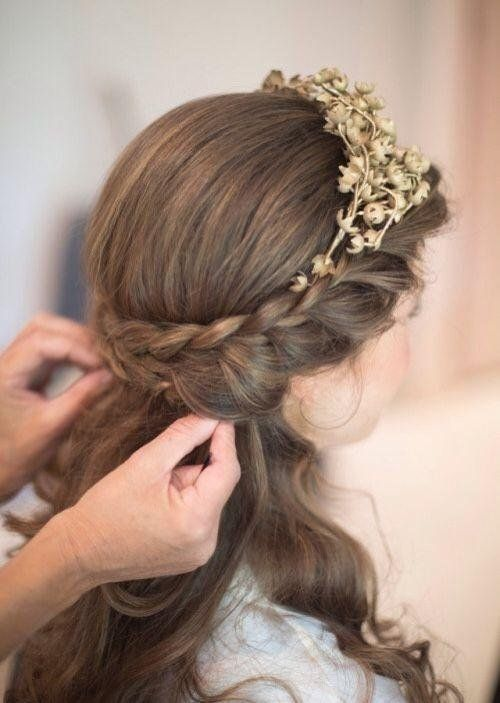 peinado semirecogido romano