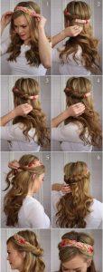 peinado sencillo con bandana