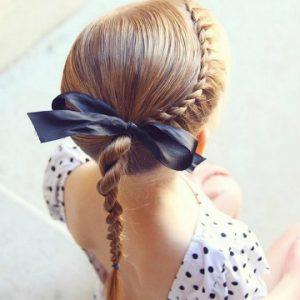 peinado sencillo para niña
