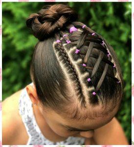 peinados con ligas y trenzas