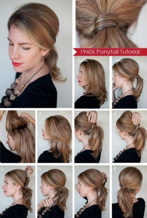 como hacer peinado de los años 60