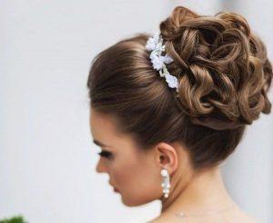 peinado con tocado elegante