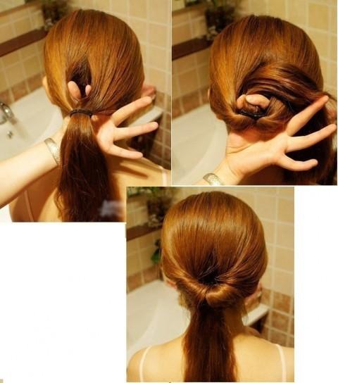 peinado facil con coleta