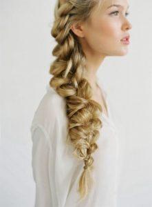 peinado sencillo con trenza holandesa