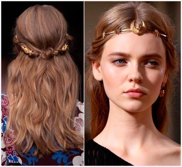 peinado griego para mujer pelo largo y suelto