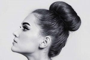 peinado moderno con rodete