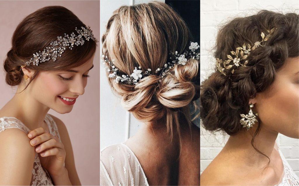peinados con diadema recogidos elegantes