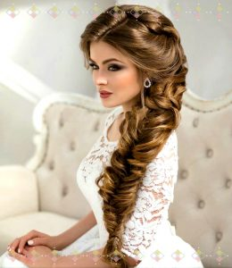 peinado de trenza abierta para bodas
